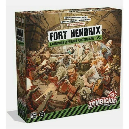 Zombicide 2nd Edition, Fort Hendrix ENG  (Language: English - Conditions: New)