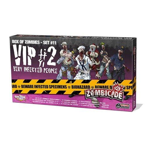 Zombicide: Box of Zombies Set #10 – VIP #2: Very Infected People  (Lingua: Italiano, Inglese, Francese, Tedesco, Spagnolo, Portoghese - Stato: Usato Ottime Condizioni)