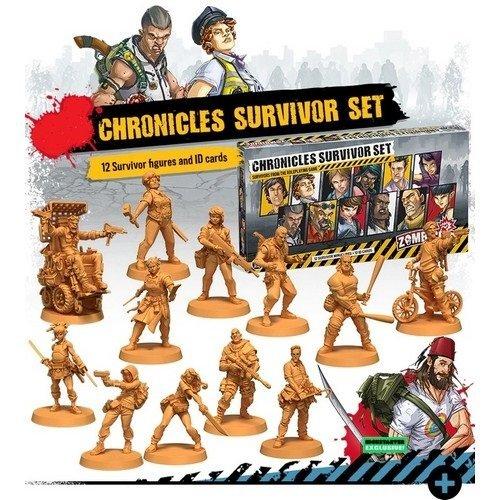 Zombicide Seconda Edizione, Chronicles Survivors  (Lingua: Inglese - Stato: Nuovo)