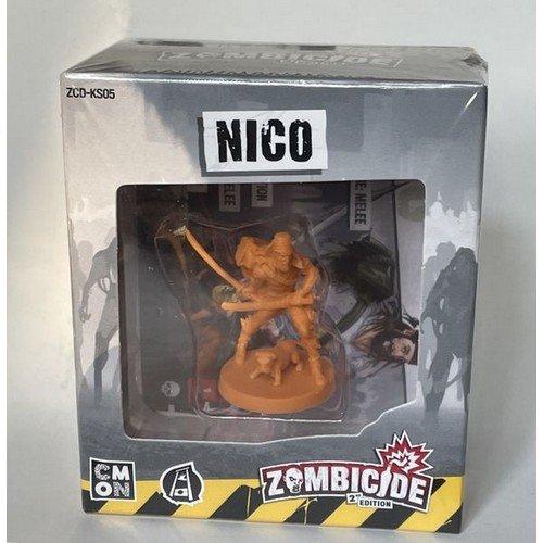 Zombicide Seconda Edizione, Nico Esclusiva Kickstarter  (Lingua: Inglese - Stato: Nuovo)